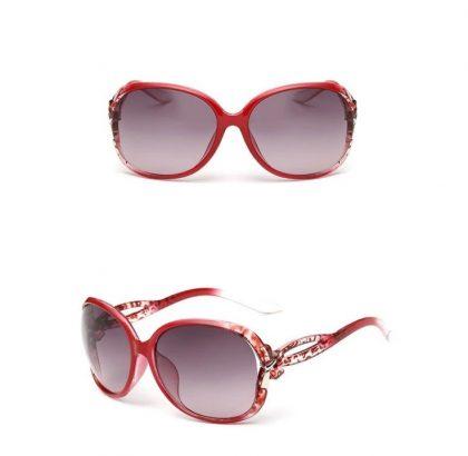 Ochelari de soare dama rame rosii Jessie detalii
