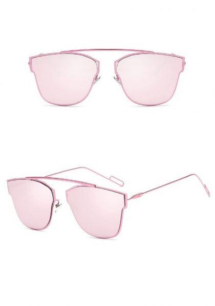Ochelari de soare dama rame roz Alison detalii