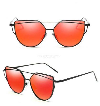 Ochelari de soare dama rosii Eliza detalii