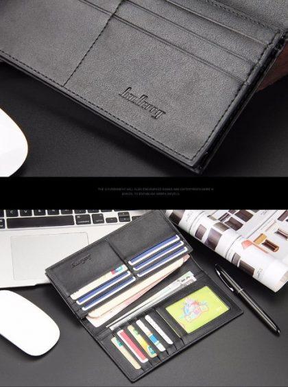 Portofel barbati negru cu model detalii