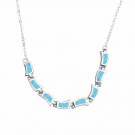 Colier argint 925 opal turcoaz