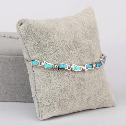 Colier argint 925 opal turcoaz profil