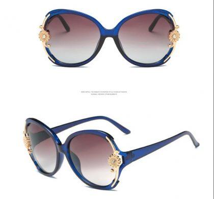 Ochelari de soare albastrii floricica Catherine profil