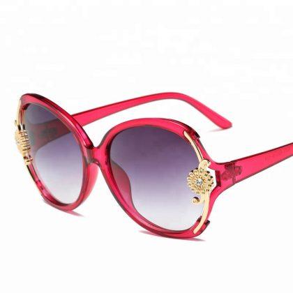 Ochelari de soare rosii floricica Catherine