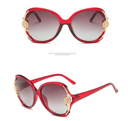 Ochelari de soare rosii floricica Catherine profil