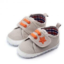Pantofi canvas bej 0-6 luni