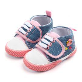 Pantofi denim fluturas 0-6 luni