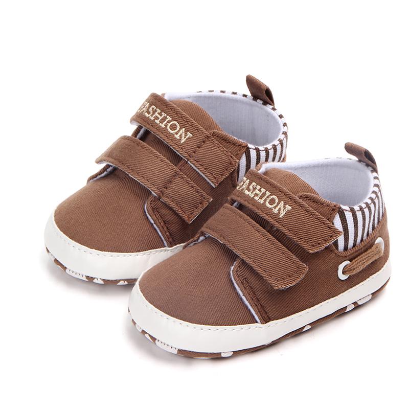 Pantofi denim maro 0-6 luni