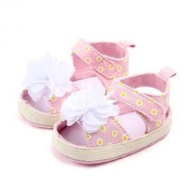 Sandale fetite floricica roz 0-6 luni