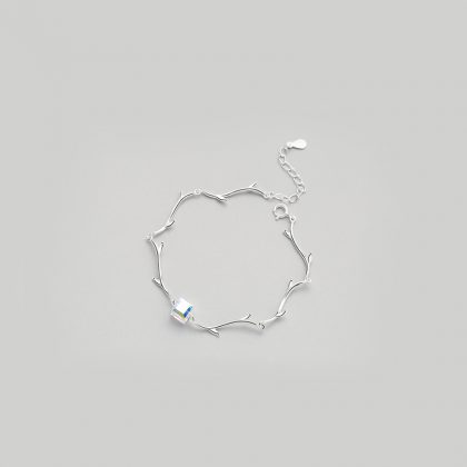 Bratara argint 925 cristal cub sus