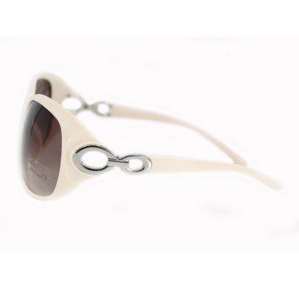 Ochelari de soare dama rame albe-roz Amber lateral