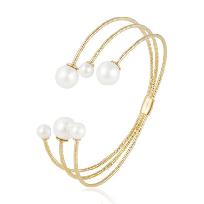 Bratara perle placata aur 18K