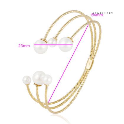 Bratara perle placata aur 18K dimensiuni