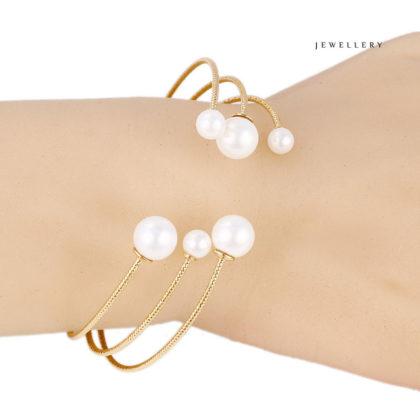 Bratara perle placata aur 18K mana