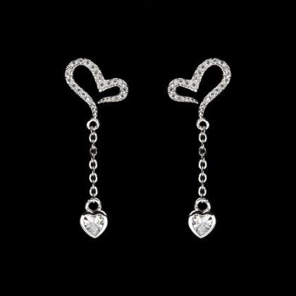 Cereci eleganti argint 925 inimioare