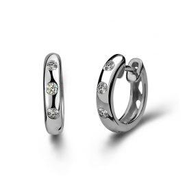 Cercei mici zirconiu argint 925