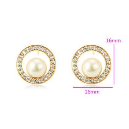 Cercei sfere perle placati aur dimensiuni