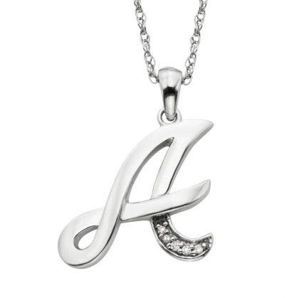 Colier argint 925 zirconiu initiala A