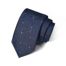 Cravata barbati bleumarin cu model Louise