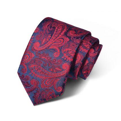 Cravata barbati bordo cu model Fred