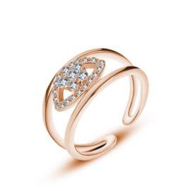 Inel argint 925 elegant zirconiu placat aur
