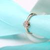 Inel argint 925 placat aur floricica model
