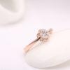 Inel argint 925 placat aur floricica profil