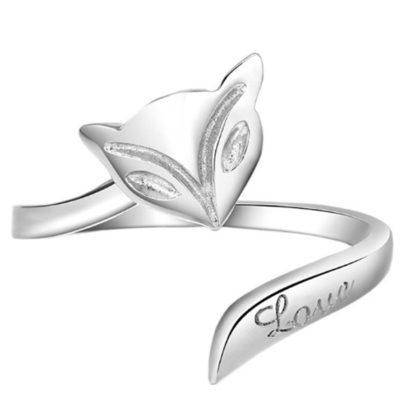 Inel ajustabil argint 925 vulpita Love