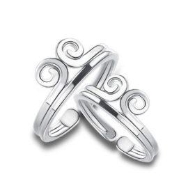 Inele cuplu argint 925 ajustabile rasucite