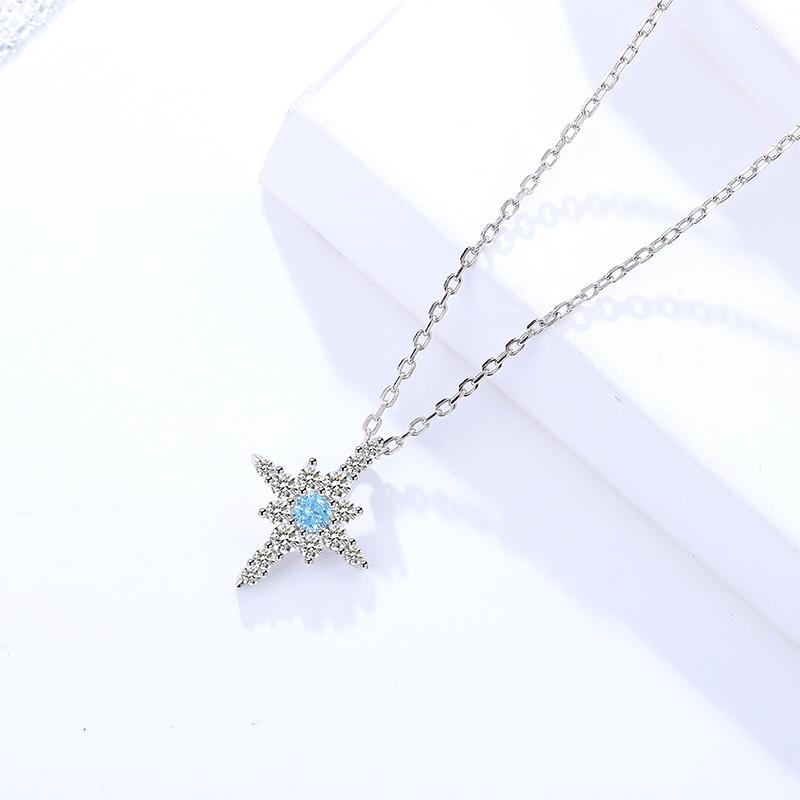 Lantisor argint 925 steluta albastra