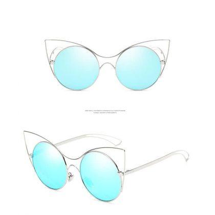 Ochelari de soare Cat Eye lentile albastre