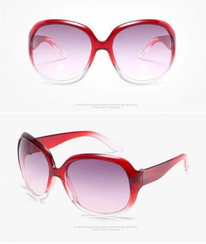 Ochelari de soare dama rame rosii profil