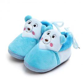 Pantofi de casa albastrii 0-12 luni