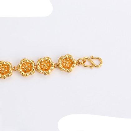 Bratara floricele placata aur 24K inchizatoare