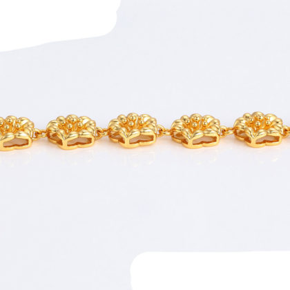 Bratara floricele placata aur 24K profil
