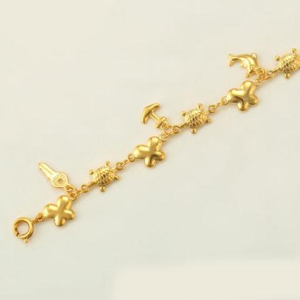 Bratara glezna motive marine placata aur model