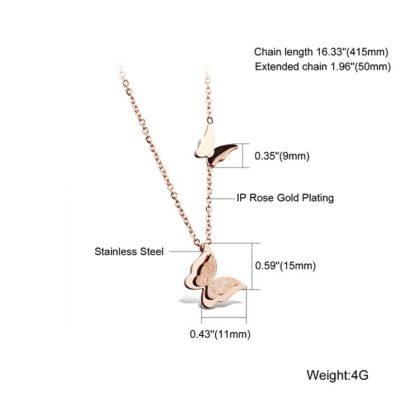 Lantisor fluturasi placat aur 18K detalii