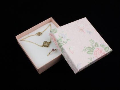 Cutie cadou bijuterii set model lat roz