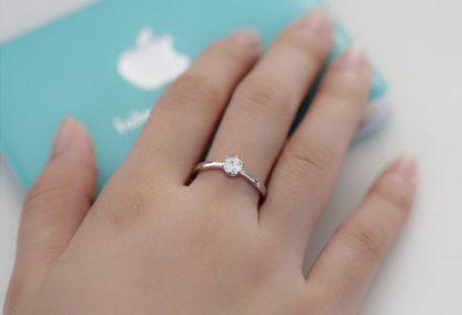 Inel elegant argint 925 zirconiu mana