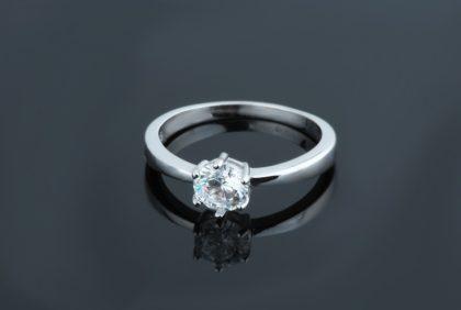 Inel elegant argint 925 zirconiu sus