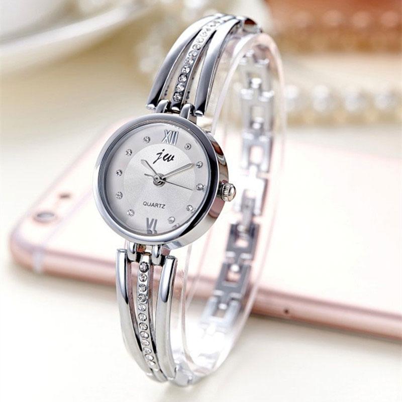 Ceas elegant dama argintiu