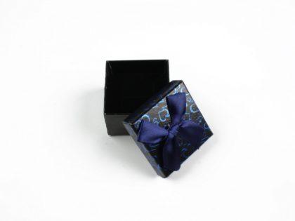 Cutie cadou inel/cercei albastru inchis