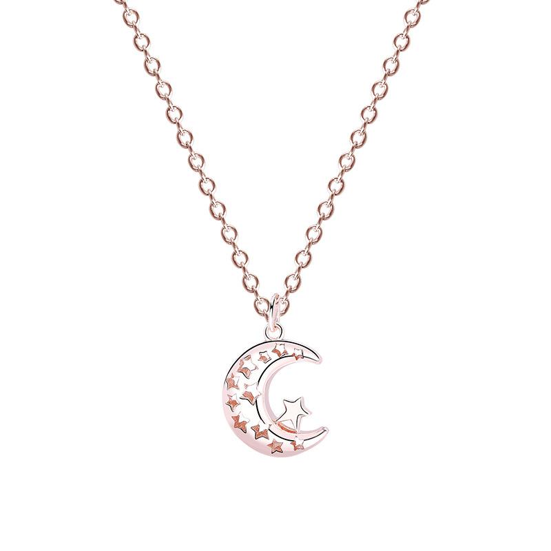 Lantisor argint 925 pandantiv luna