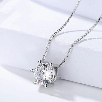 Set elegant argint 925 colier si cercei zirconiu colier