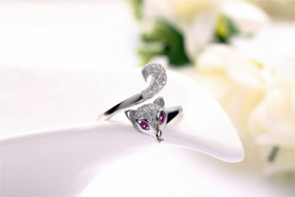 Set vulpita argint 925 colier cercei bratara si inel inel