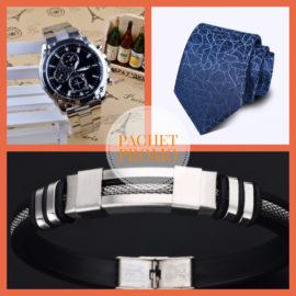 Pachet Promo 10: ceas, cravata si bratara barbati