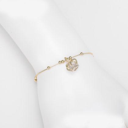 Bratara eleganta placata aur coronita mana