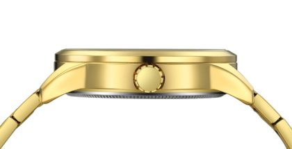 Ceas barbati metalic auriu calendar Curren cadran