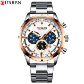 Ceas business metalic cronograf Curren