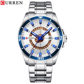 Ceas elegant metalic cronograf Curren